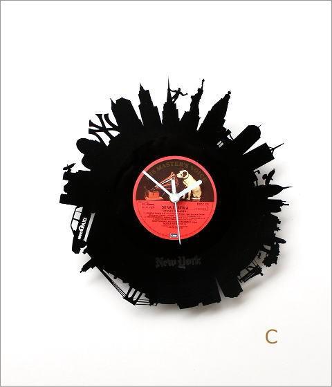 レコード盤の掛け時計 3タイプ(6)