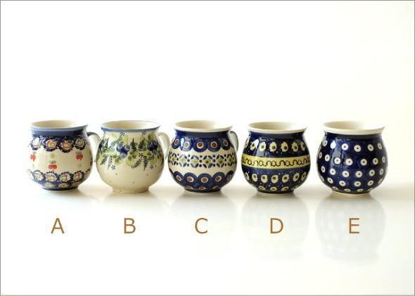 ポーランド陶器のマグB 5タイプ(6)