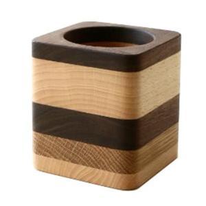 ペン立て 木製 ペンスタンド おしゃれ 天然木 無垢 シンプル かわいい 鉛筆立て リモコンスタンド メガネスタンド ナチュラルウッドのペンたて モザイク2タイプ|gigiliving|08