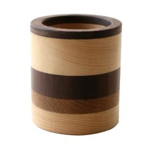 ペン立て 木製 ペンスタンド おしゃれ 天然木 無垢 シンプル かわいい 鉛筆立て リモコンスタンド メガネスタンド ナチュラルウッドのペンたて モザイク2タイプ|gigiliving|09