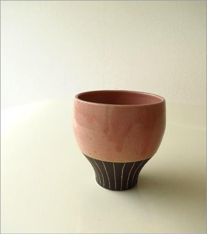 和陶器フリーカップ 桃(6)