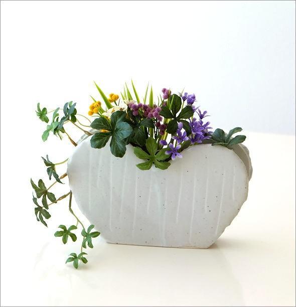 和陶器ベース ホワイトハート(6)
