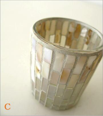 モザイクガラスのキャンドルカップ3タイプ(8)