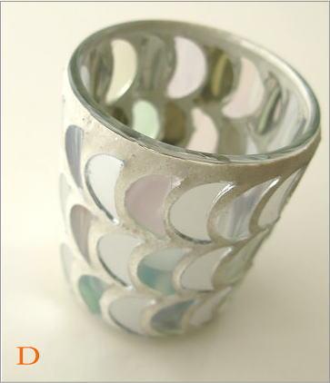 モザイクガラスのキャンドルカップ3タイプ(8_1)