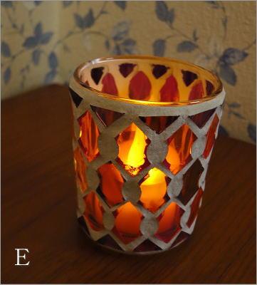 モザイクガラスのキャンドルカップ3タイプ(4_2)