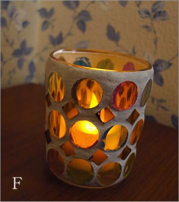 モザイクガラスのキャンドルカップ3タイプ(4_3)