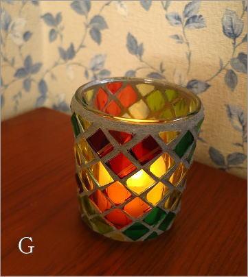 モザイクガラスのキャンドルカップ3タイプ(4_4)