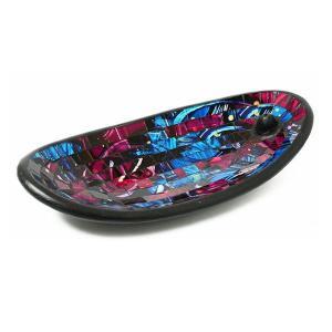 インセンスホルダー お香立て お香たて おしゃれ ガラス トレイ トレー スティック スタンド 受け皿 アジアン モザイクガラスのインセンスホルダー 2カラー|gigiliving|08