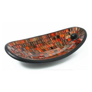 インセンスホルダー お香立て お香たて おしゃれ ガラス トレイ トレー スティック スタンド 受け皿 アジアン モザイクガラスのインセンスホルダー 2カラー|gigiliving|09