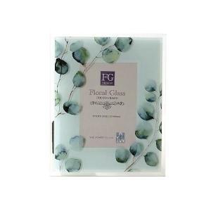 フォトフレーム 写真立て ガラス おしゃれ 花 フラワー かわいい 自然 水彩画 グリーン ナチュラル ガラスのフォトフレームフラワーB 2タイプ|gigiliving|07