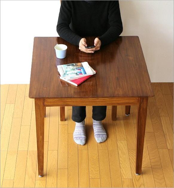 チークダイニングテーブル80(6)