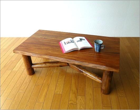 チーク原木テーブル(6)