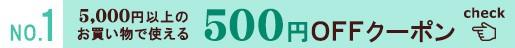 ≪500円OFFクーポン≫プレゼント♪