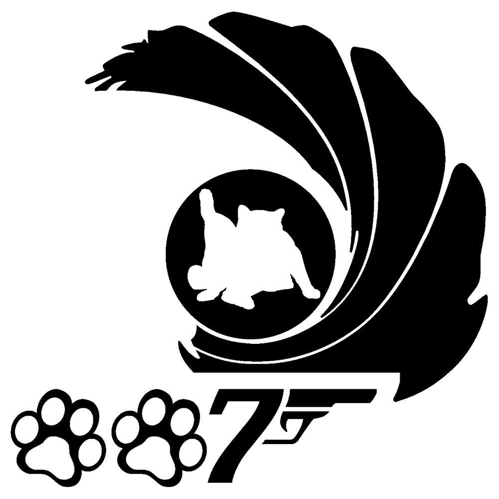 ニャンコ7ステッカー