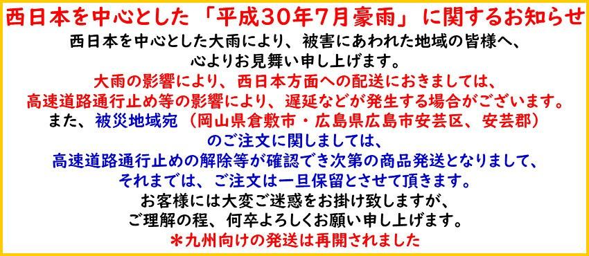 平成30年7月豪雨に関するお知らせ