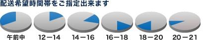 配送希望時間帯をご指定出来ます[午前中][12-14][14-16][16-18][18-20][20-21]