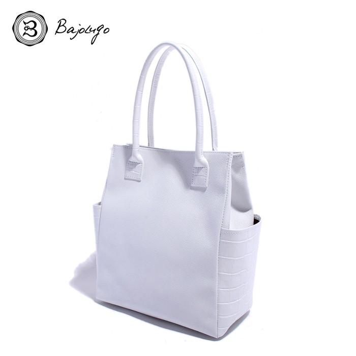 BajoLugo バジョルゴ クロコ型押し バケツ型ミニトートバッグ