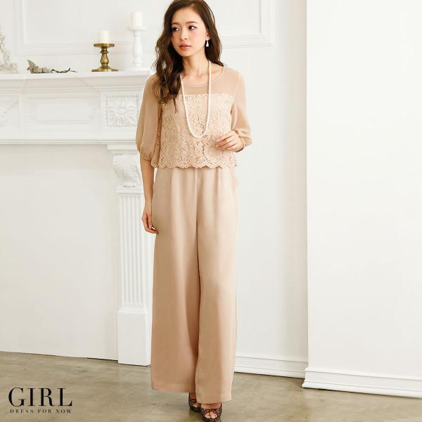 パーティードレス 結婚式 パンツドレス 大きいサイズ 20代 30代 40代 モデル美香着用 お呼ばれ オールインワン 二次会 ワイドパンツ|girl-k|07