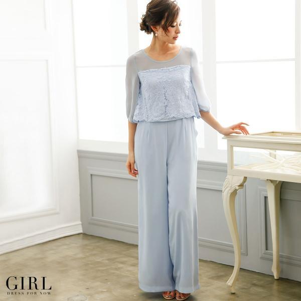 パーティードレス 結婚式 パンツドレス 大きいサイズ 20代 30代 40代 モデル美香着用 お呼ばれ オールインワン 二次会 ワイドパンツ|girl-k|08