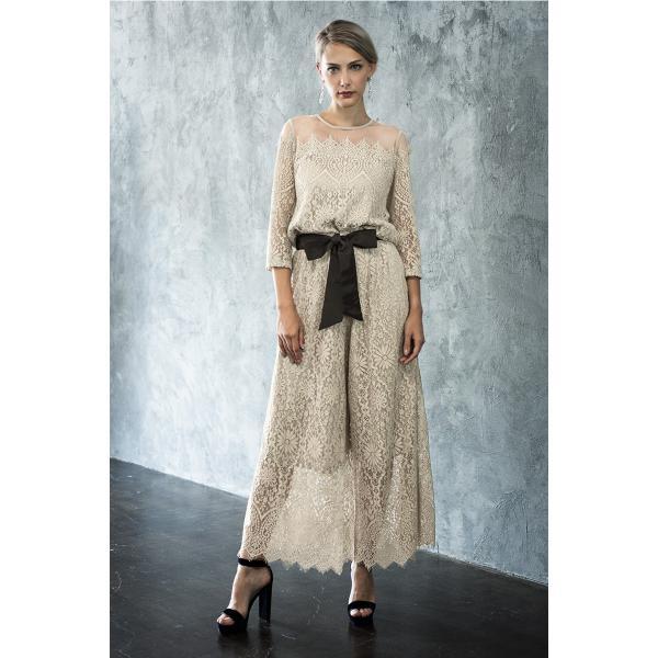 パーティードレス セットアップ パンツスタイル パンツドレス 結婚式 大きいサイズ ロング お呼ばれ 大きいサイズ パーティドレス パンツ 3点セット セット girl-k 21