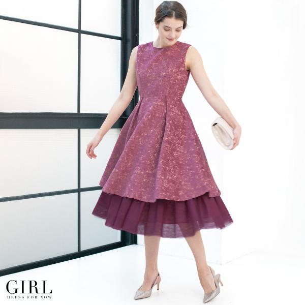 ドレス ワンピース パーティードレス 大きいサイズ お呼ばれ 他と被らない 30代 20代 結婚式 ドレス 二次会 ゲストドレス レディース 袖なし ノースリーブ|girl-k|23