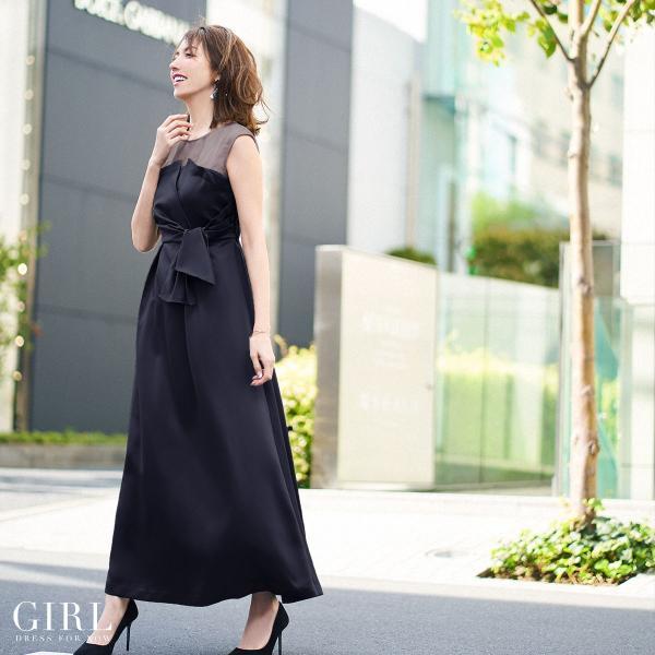 ドレス ワンピース パーティードレス 大きいサイズ お呼ばれ 20代 30代 40代 50代 結婚式 ドレス 二次会 レディース ノースリーブ ロングドレス モデル美香着用|girl-k|26