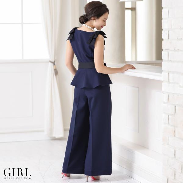 パーティードレス セットアップ パンツスタイル パンツドレス 結婚式 大きいサイズ ロング お呼ばれ 大きいサイズ 2点セット|girl-k|23