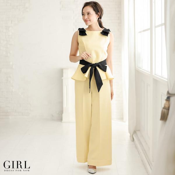 パーティードレス セットアップ パンツスタイル パンツドレス 結婚式 大きいサイズ ロング お呼ばれ 大きいサイズ 2点セット|girl-k|21