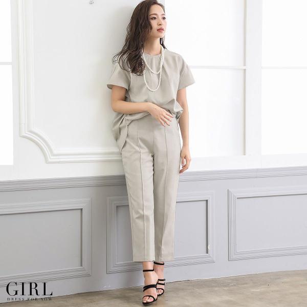 2/17まで 50%OFFクーポン利用で6990円 パーティードレス セットアップ パンツスタイル パンツドレス 結婚式 大きいサイズ ロング パンツ 2点セット|girl-k|19