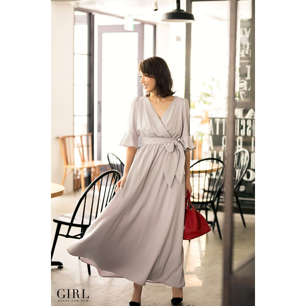 パーティードレス モデル美香着用 ワンピース 結婚式 ドレス ボトムス スカート お呼ばれ 大きいサイズ パーティー|girl-k|08