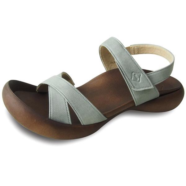 リゲッタカヌー サンダル レディース 履きやすい ぺたんこ おしゃれ デニム 調 ベルクロ sandal|gjweb|10