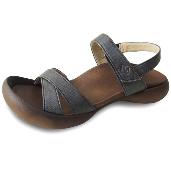 リゲッタカヌー サンダル レディース 履きやすい ぺたんこ おしゃれ デニム 調 ベルクロ sandal|gjweb|07