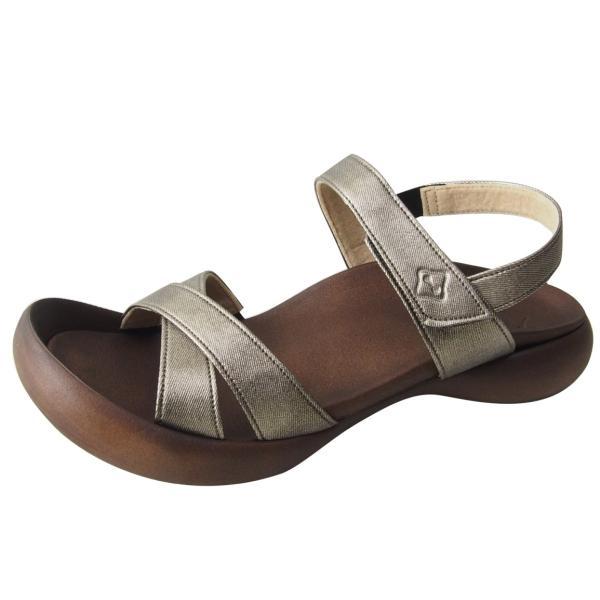 リゲッタカヌー サンダル レディース 履きやすい ぺたんこ おしゃれ デニム 調 ベルクロ sandal|gjweb|08