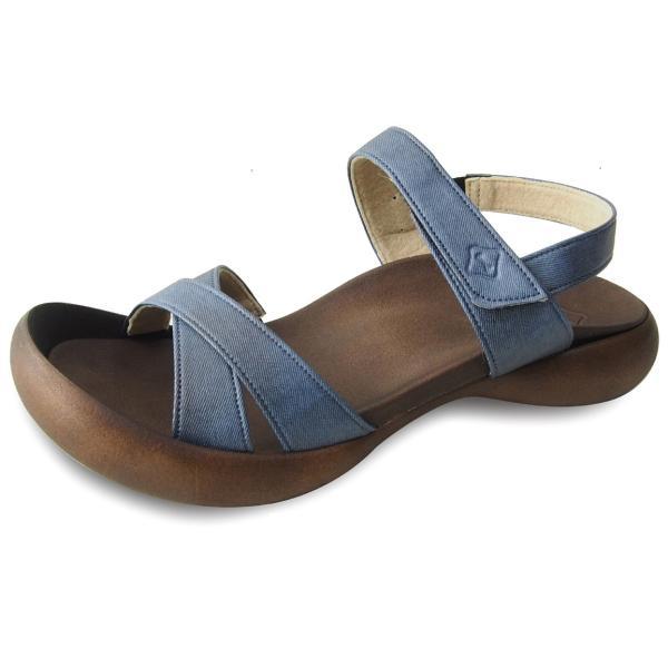 リゲッタカヌー サンダル レディース 履きやすい ぺたんこ おしゃれ デニム 調 ベルクロ sandal|gjweb|09