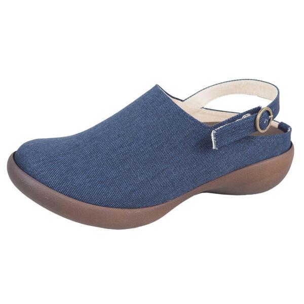 リゲッタ カヌー レディース サボ サンダル デニム ストラップ ウェッジ sandal|gjweb|18