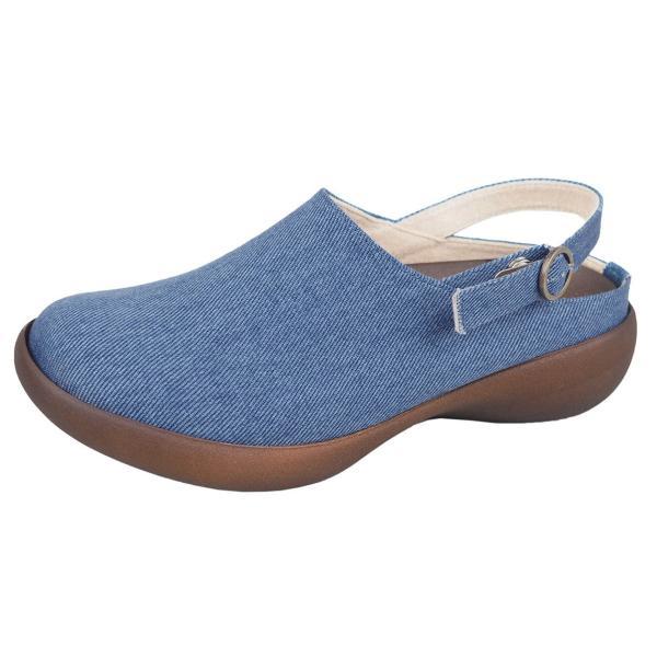リゲッタ カヌー レディース サボ サンダル デニム ストラップ ウェッジ sandal|gjweb|17