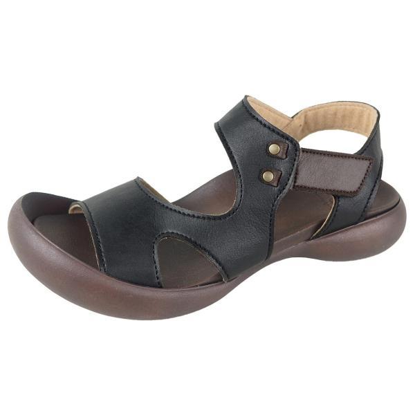 リゲッタ カヌー サンダル レディース 履きやすい ぺたんこ デザイン ベルクロ ストラップ sandal|gjweb|22