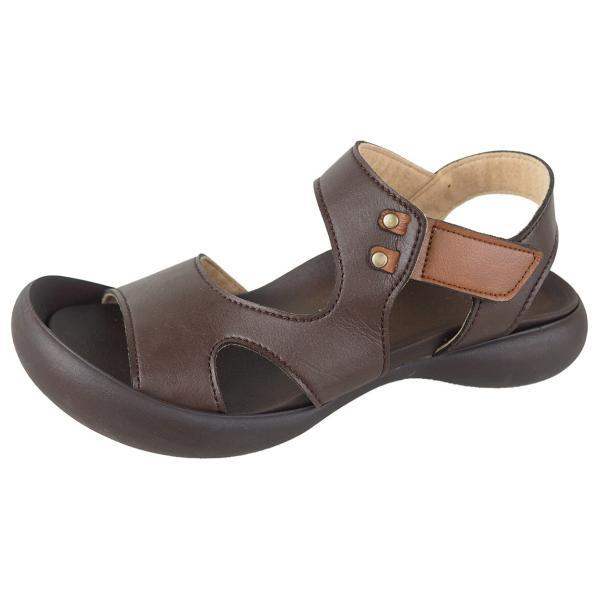 リゲッタ カヌー サンダル レディース 履きやすい ぺたんこ デザイン ベルクロ ストラップ sandal|gjweb|24