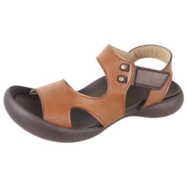 リゲッタ カヌー サンダル レディース 履きやすい ぺたんこ デザイン ベルクロ ストラップ sandal|gjweb|25