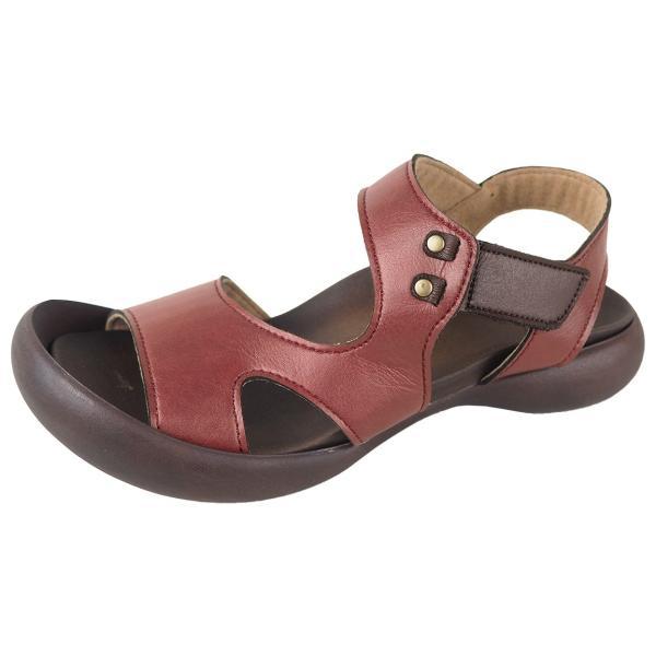 リゲッタ カヌー サンダル レディース 履きやすい ぺたんこ デザイン ベルクロ ストラップ sandal|gjweb|27