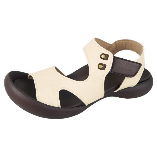 リゲッタ カヌー サンダル レディース 履きやすい ぺたんこ デザイン ベルクロ ストラップ sandal|gjweb|23