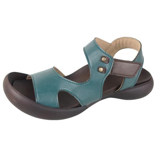 リゲッタ カヌー サンダル レディース 履きやすい ぺたんこ デザイン ベルクロ ストラップ sandal|gjweb|26