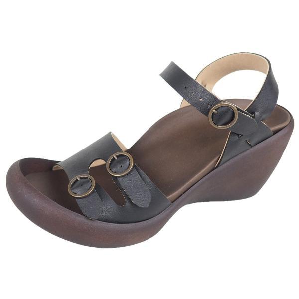 リゲッタ カヌー サンダル レディース ウェッジソール サンダル 厚底 ハイウェッジ ストラップ バックルベルト sandal|gjweb|18