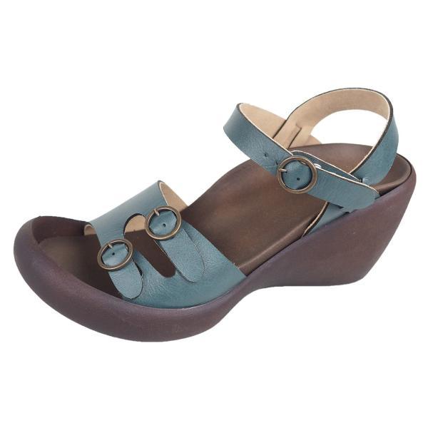 リゲッタ カヌー サンダル レディース ウェッジソール サンダル 厚底 ハイウェッジ ストラップ バックルベルト sandal|gjweb|20