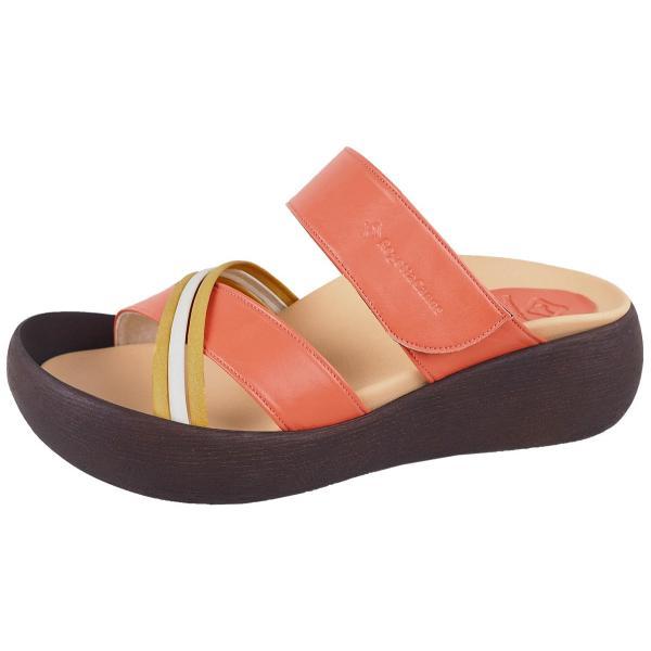 リゲッタ カヌー サンダル レディース  厚底 ウェッジソール クロス ベルト つっかけ 安定 履きやすい sandal gjweb 18