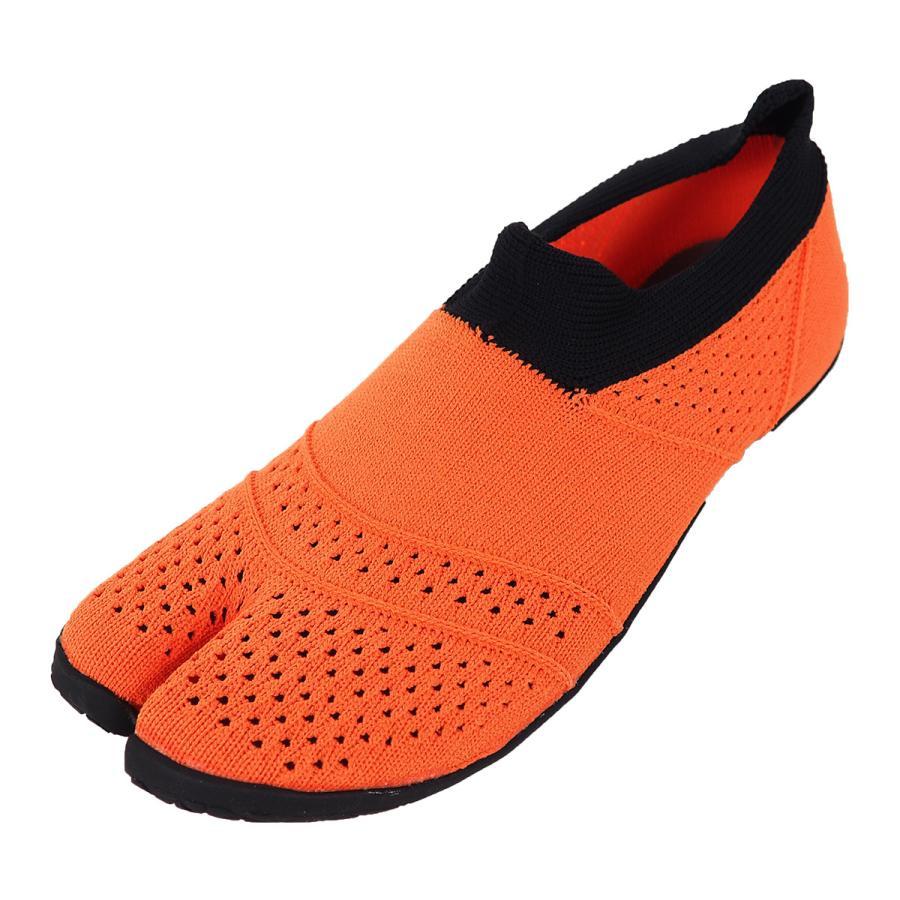 スニーカー 足袋シューズ 足袋型トレーニングシューズ  スニーカー オレンジ gjweb 16