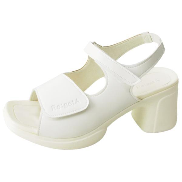 リゲッタ ナース サンダル レディース 黒 白 太ヒール ストラップ ベルト ベルクロ sandal|gjweb|18
