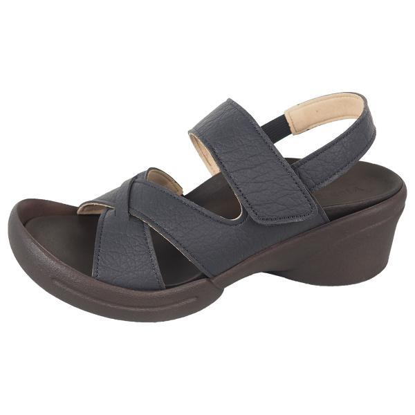 リゲッタ サンダル レディース ウェッジソール ストラップ 幅広 甲高 履きやすい ベルクロ グミ インソール sandal|gjweb|22
