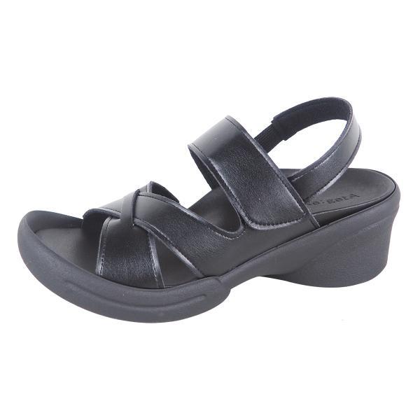 リゲッタ サンダル レディース ウェッジソール ストラップ 幅広 甲高 履きやすい ベルクロ グミ インソール sandal|gjweb|23