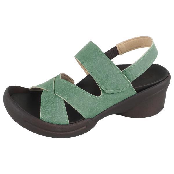 リゲッタ サンダル レディース ウェッジソール ストラップ 幅広 甲高 履きやすい ベルクロ グミ インソール sandal|gjweb|27